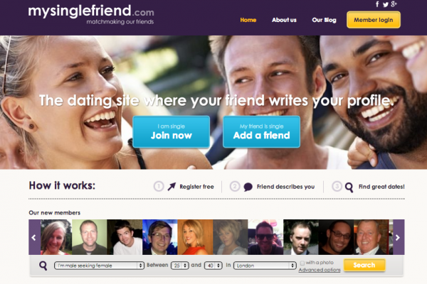 Mysinglefriend online dating where your friends write