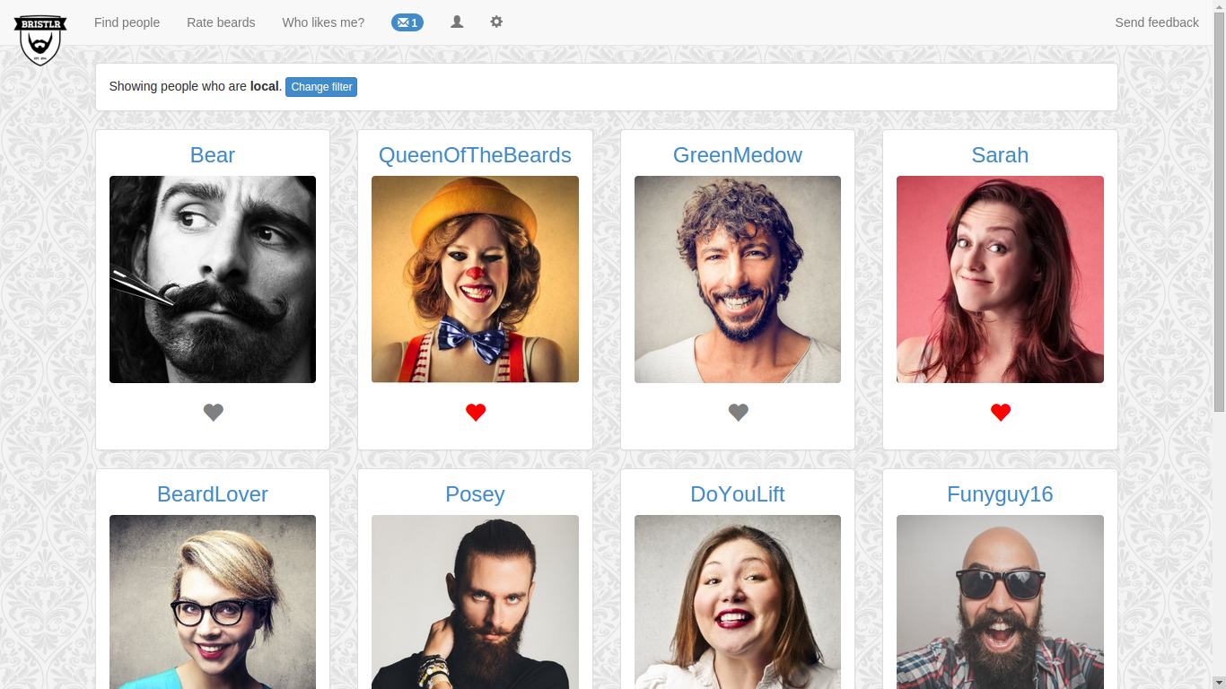 Beard dating site