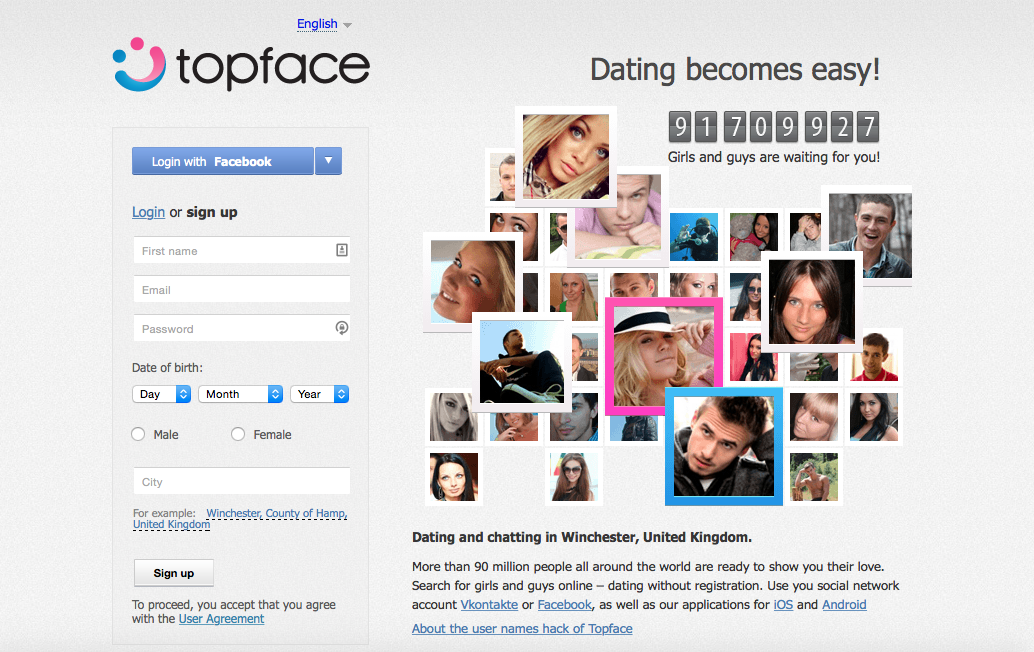 Topface online dating site