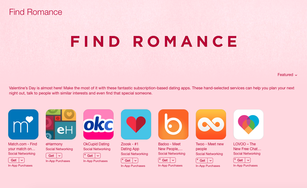 Dating websites and apps