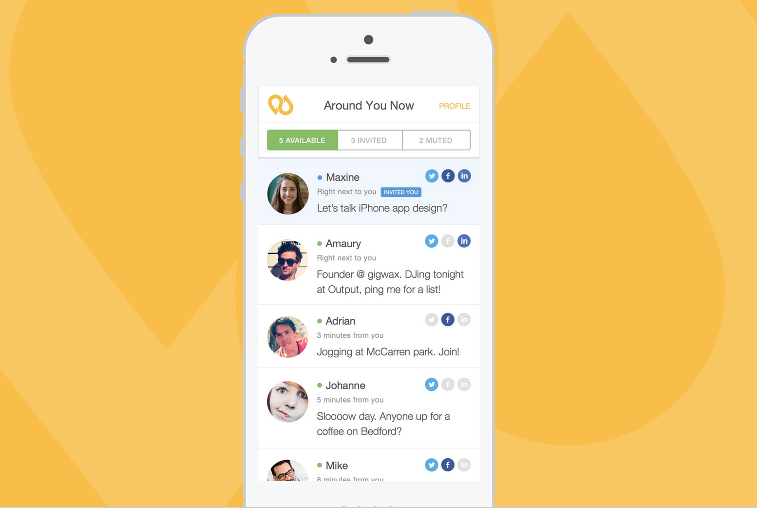Yellow dating app online