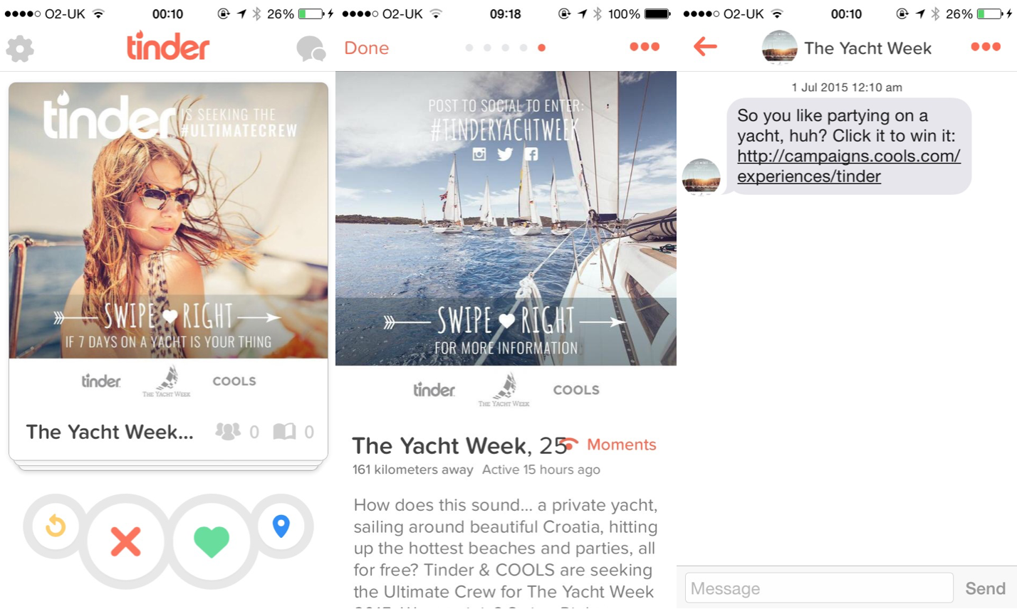 Tinder Giving Singles Chance To Spend Week On Private