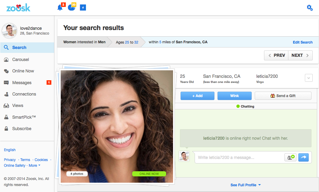 zoosk com search