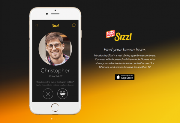 Oscar Mayer Releases Sizzl A Dating App For Bacon Lovers
