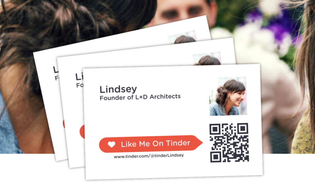 Dating site business cards