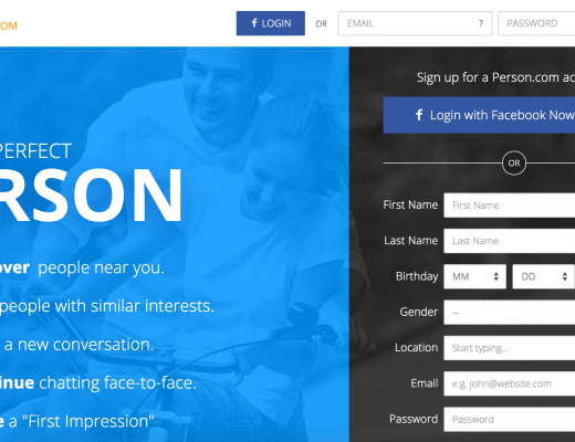 Dating site redesign