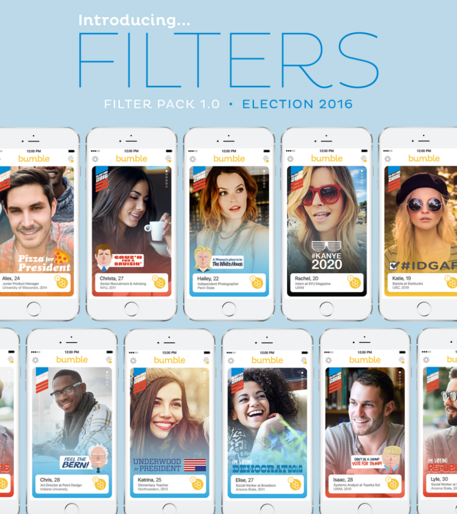 bumble political filters