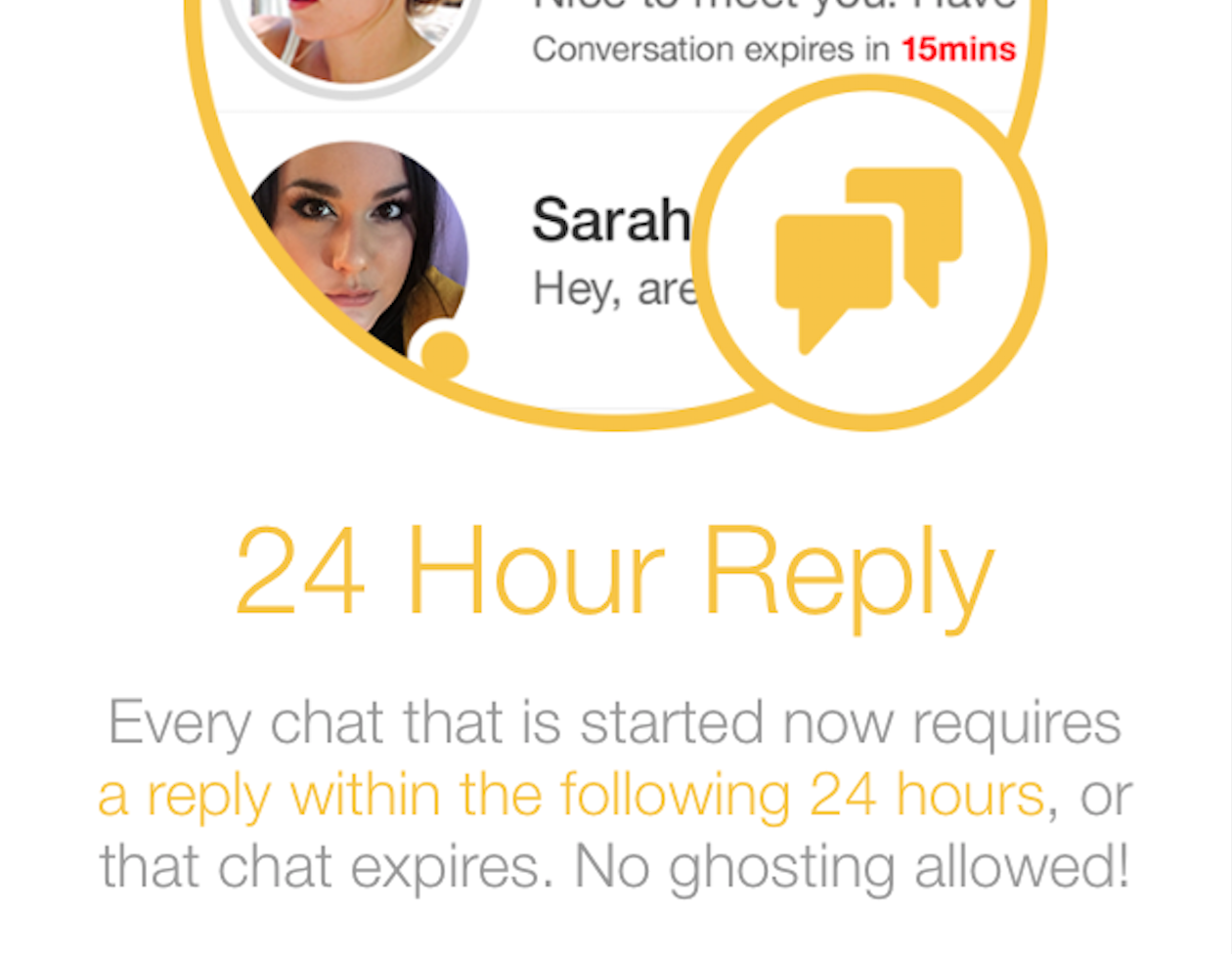 Bumble Adds 24 Hour Time Limit To Replies, To Curb 'Ghosting