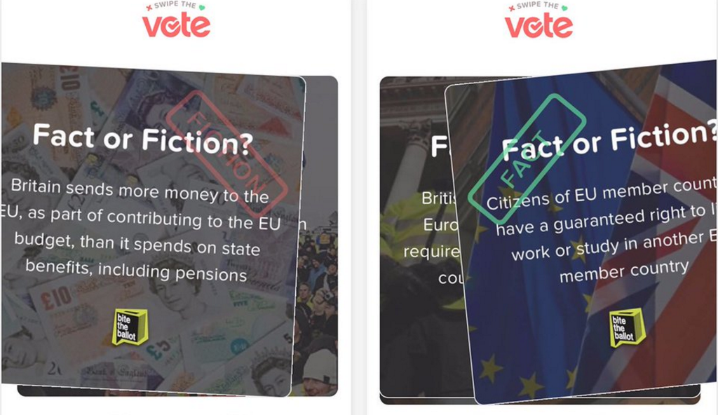 Tinder Launches 'Swipe The Vote' Campaign To Help Young Brits Learn More About EU Referendum