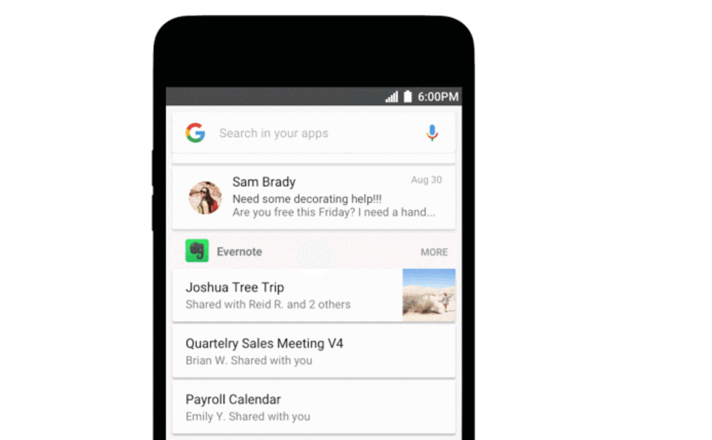 Google Now Lets You Search For In-App Content On Android
