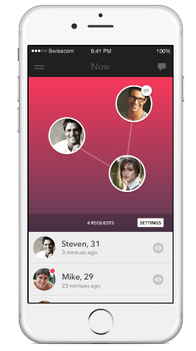 proximity dating app with most users