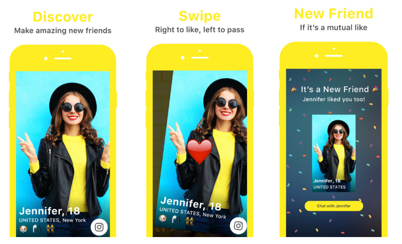 teenage dating app yellow