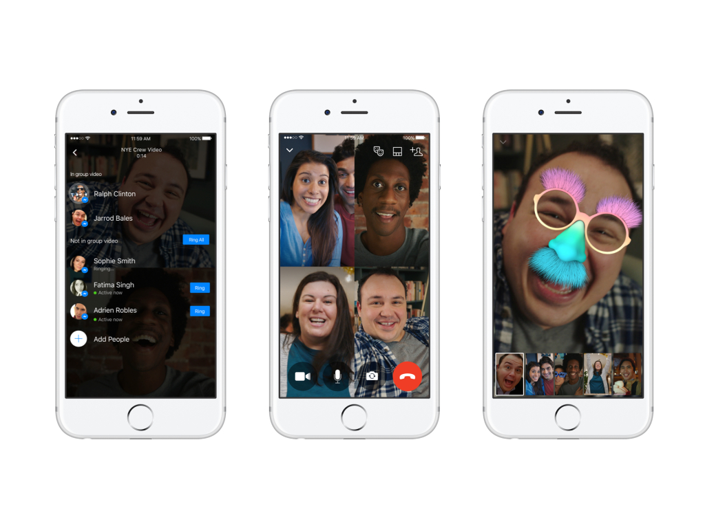 Facebook Rolls Out New Group Video Chat Feature