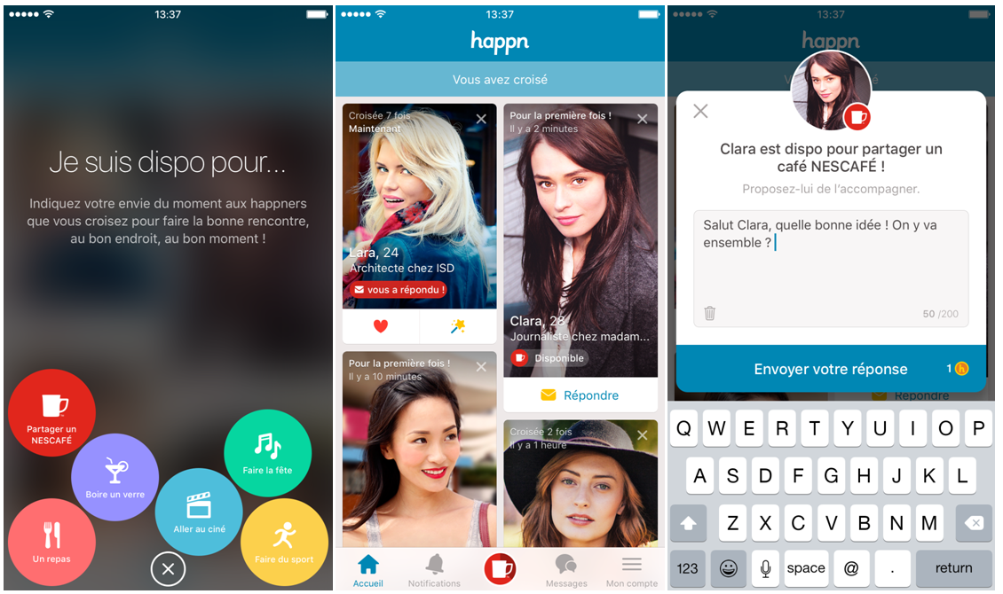 Happn & Nescafé Connected Singles For Offline Coffee Dates During Campaign Last Year