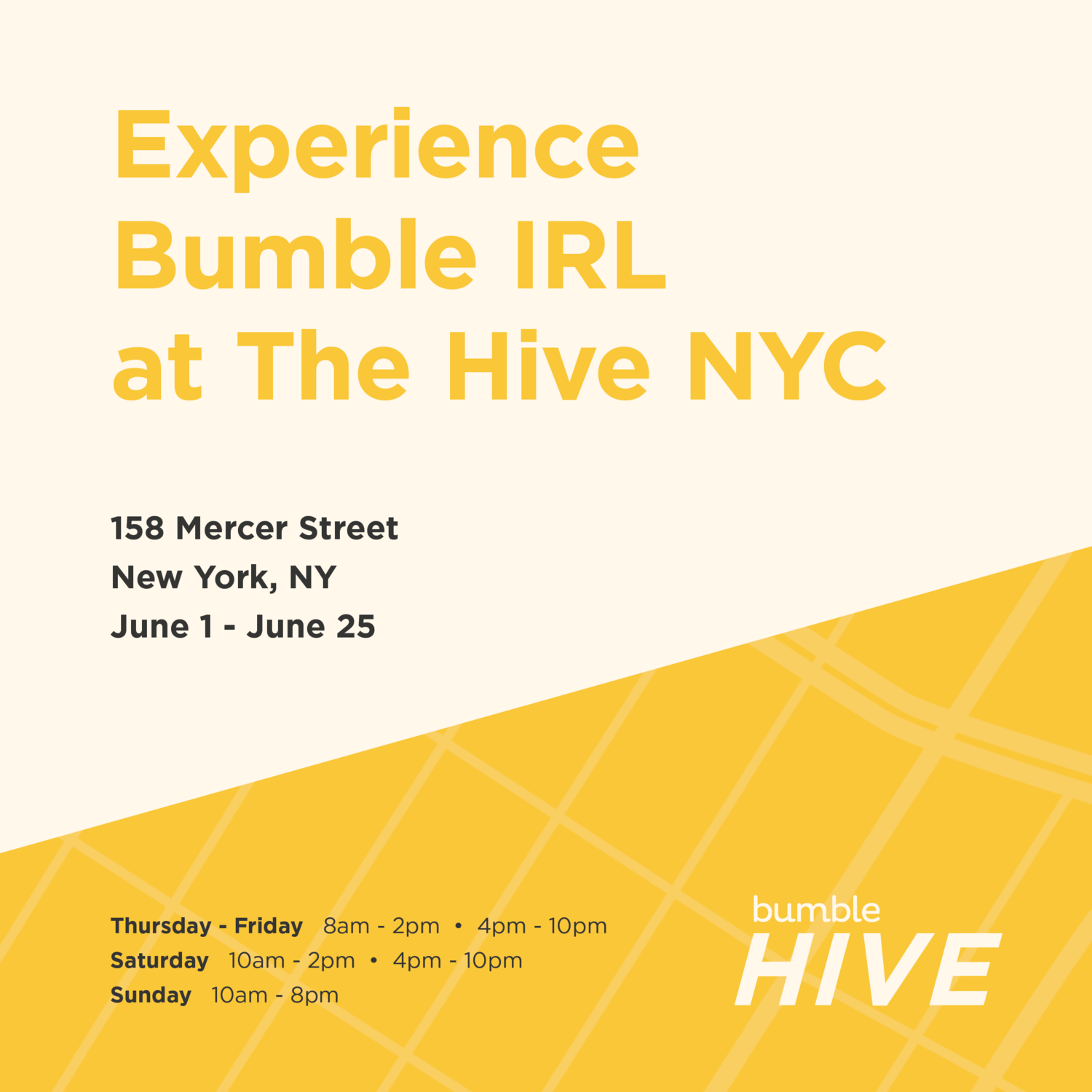 Bumble Hive New York