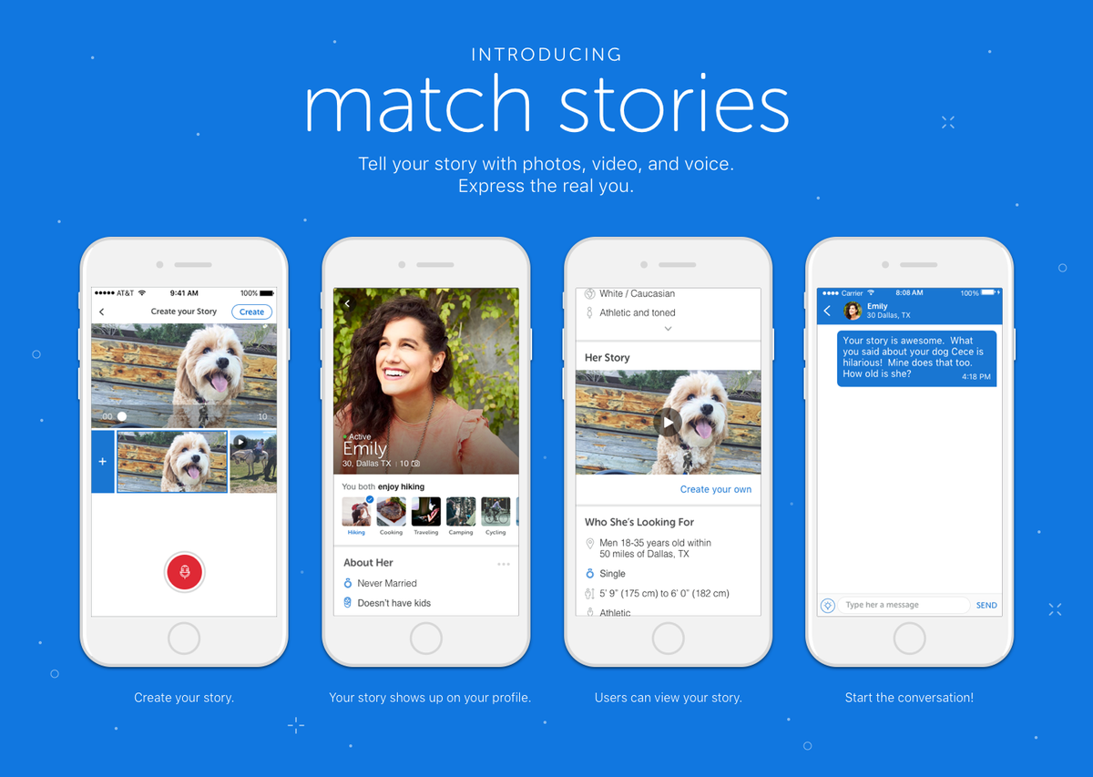 Match com Preps Release Of New Stories Feature - Global