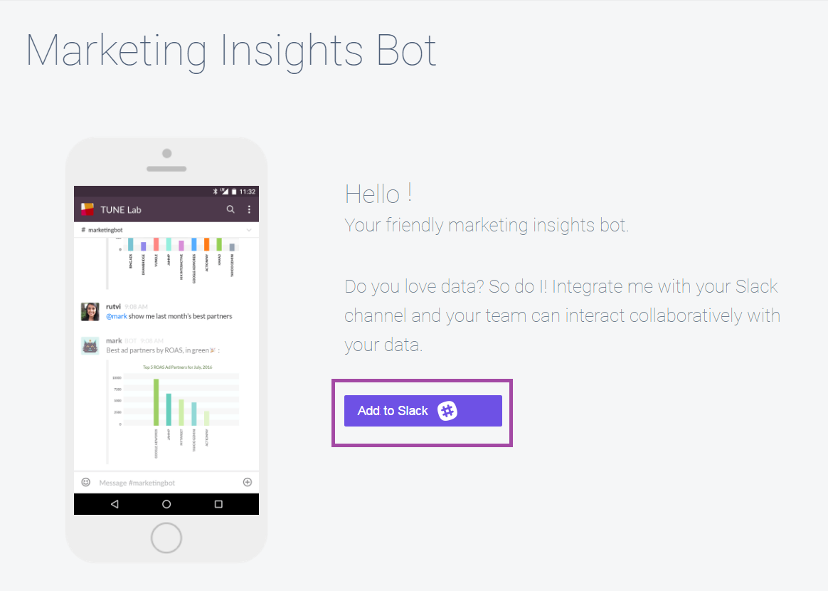 Instantly Receive Cost Per Click & Install Data With Tune's New Slack Bot