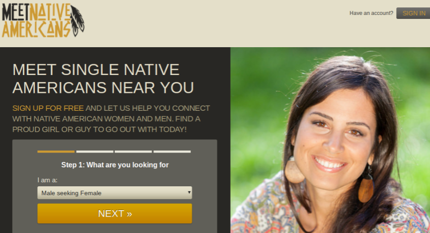 Dating native american men online