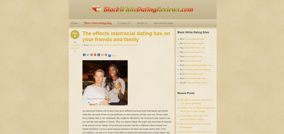Effects of dating websites