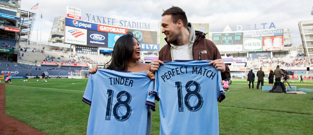 Tinder & New York City Football Club Partner to Create #PerfectMatch