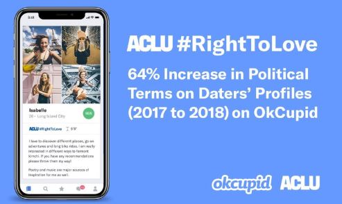 OkCupid Joins Partnership with ACLU to Create a Profile Badge