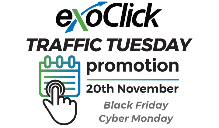 ExoClick's Traffic Tuesday Offers 50% Cash Back Promotion for Push Notifications
