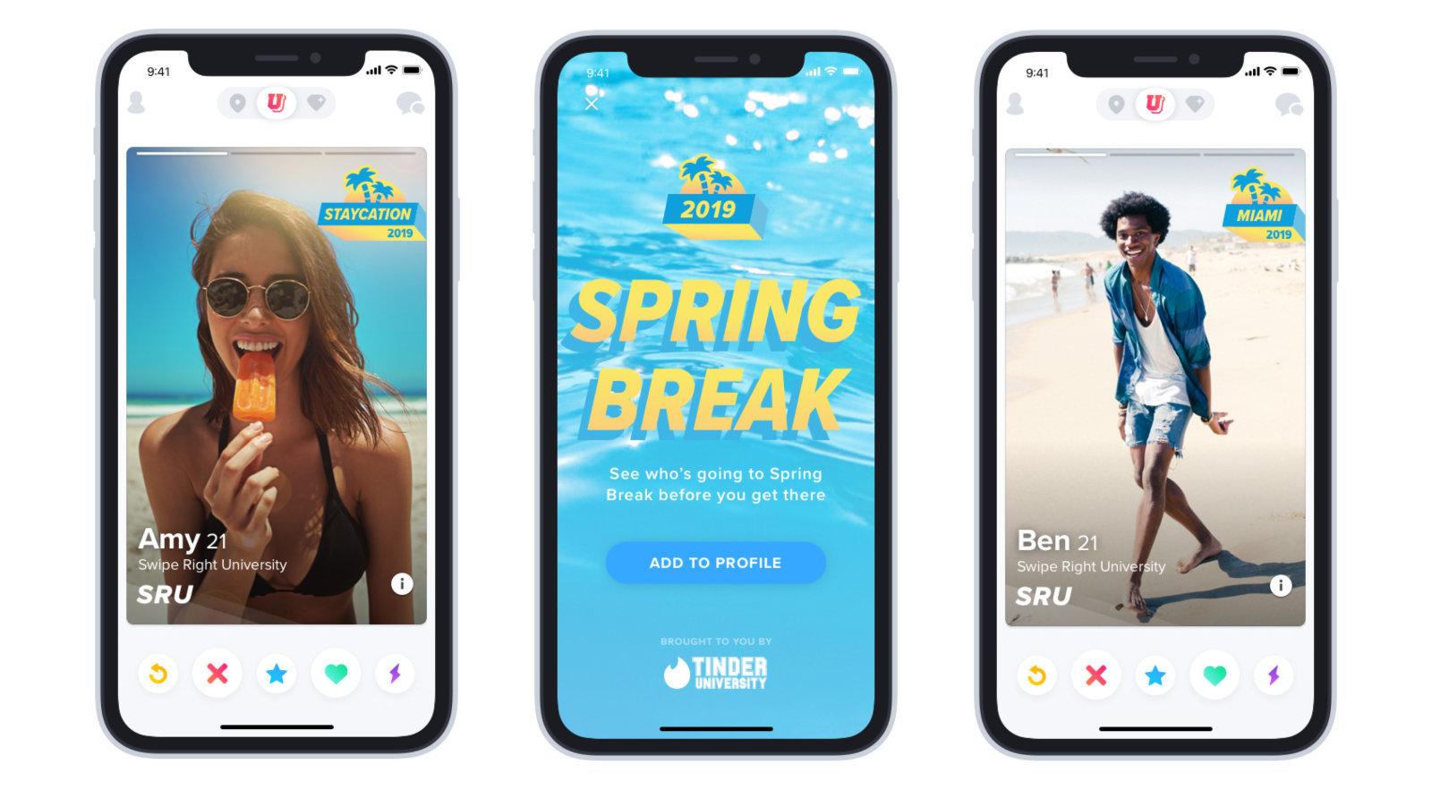 Tinder Introduces 'Spring Break' Mode
