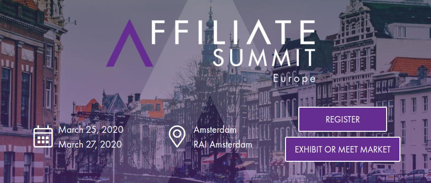 Affiliate Summit Europe 2020, Amsterdam