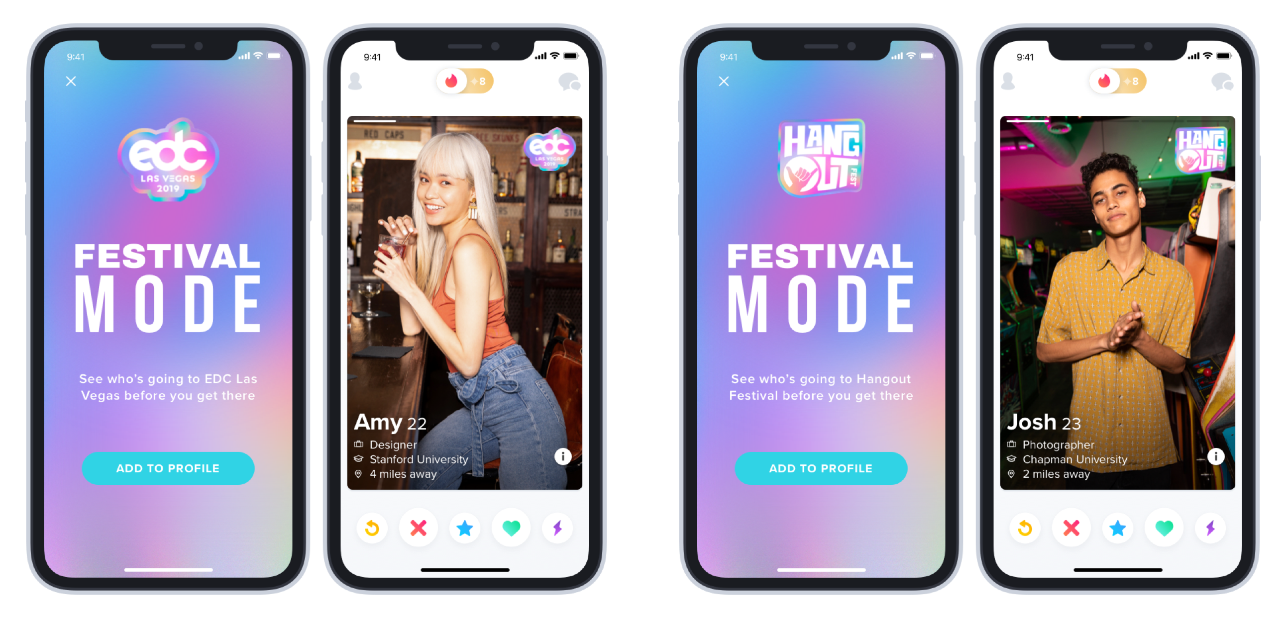 Tinder Launches New Festival Mode