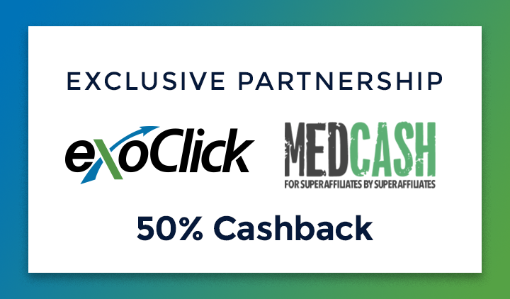 Affiliate Network MedCash Partners with ExoClick