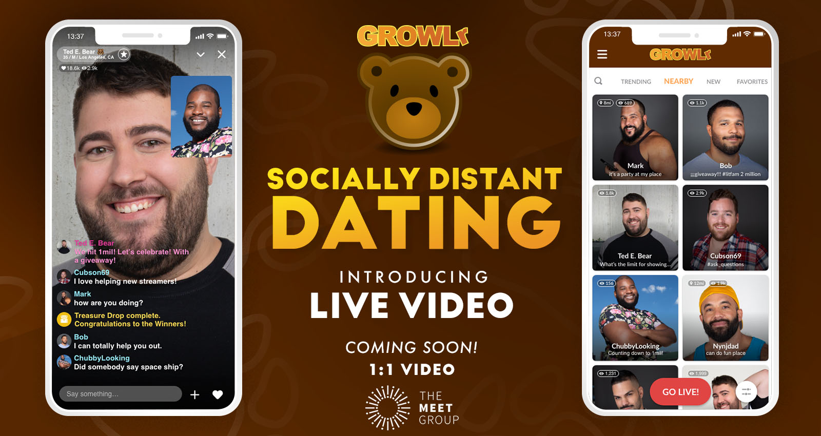 The Meet Group Adds Live Streaming Feature to GROWLr