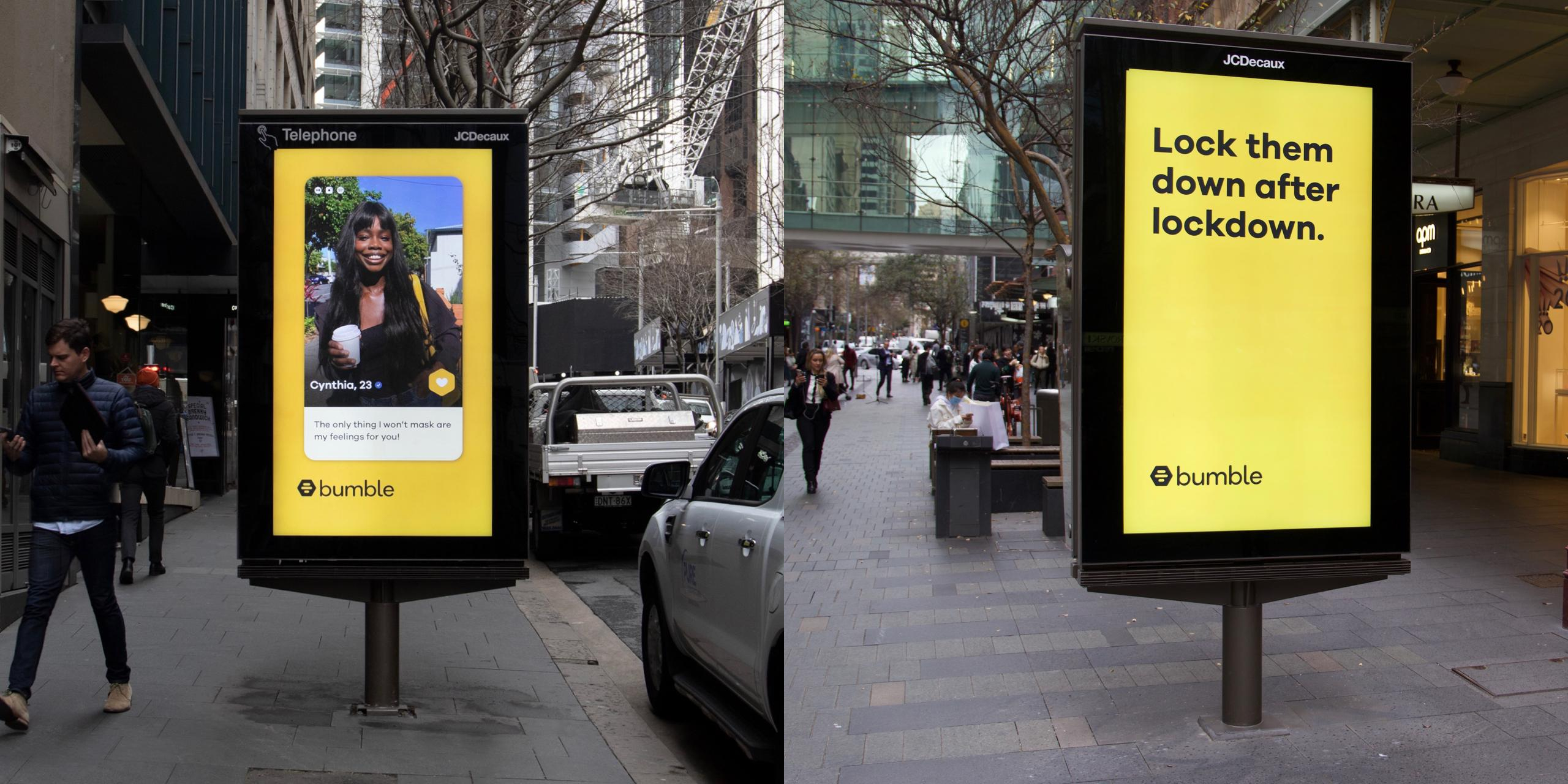 Bumble Launches Out Of Home Campaign in Sydney