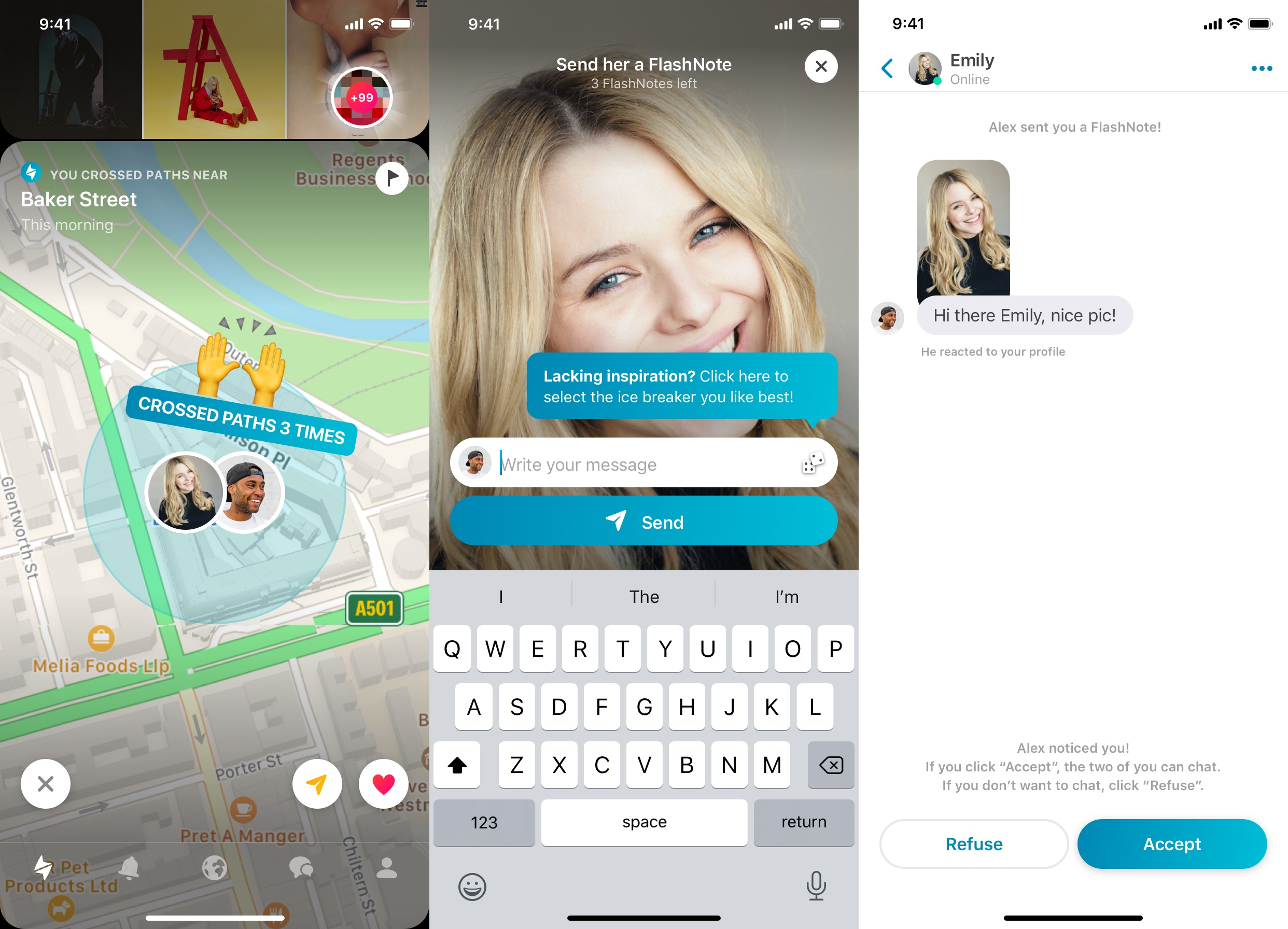 New 'FlashNote' Feature Lets happn Users Message Before Matching