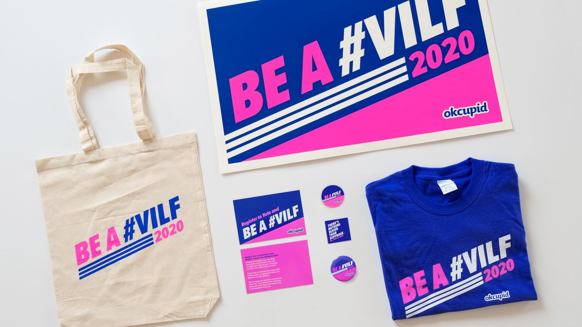 Risqué VILF Badge Promotes Voting Registrations on OkCupid