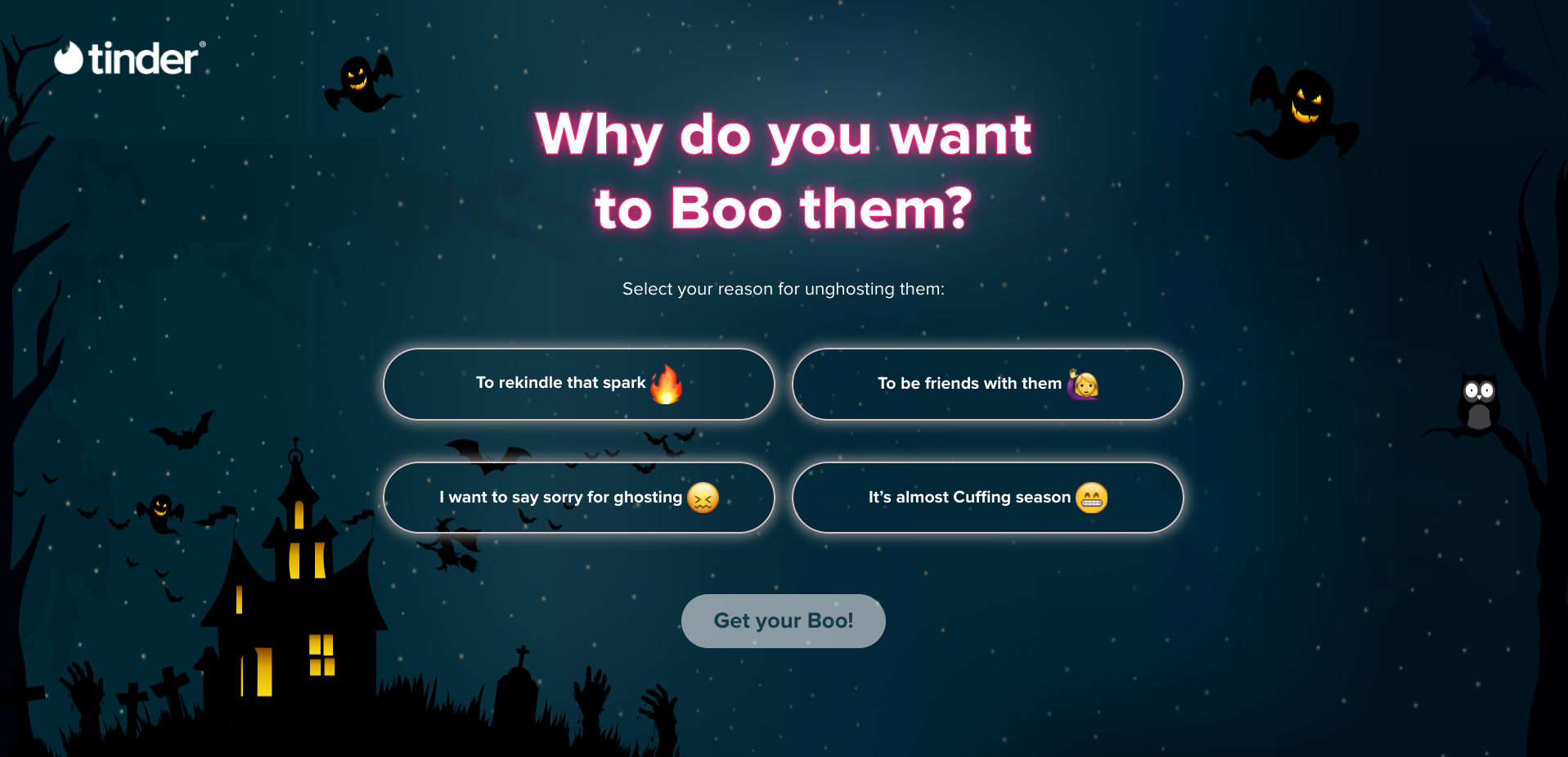 Tinder's New Website Generates Messages to Save 'Ghost' Conversations