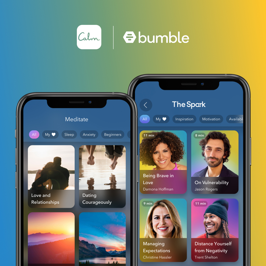 Bumble Partners With 'Calm' For Meditation and Wellness Sessions