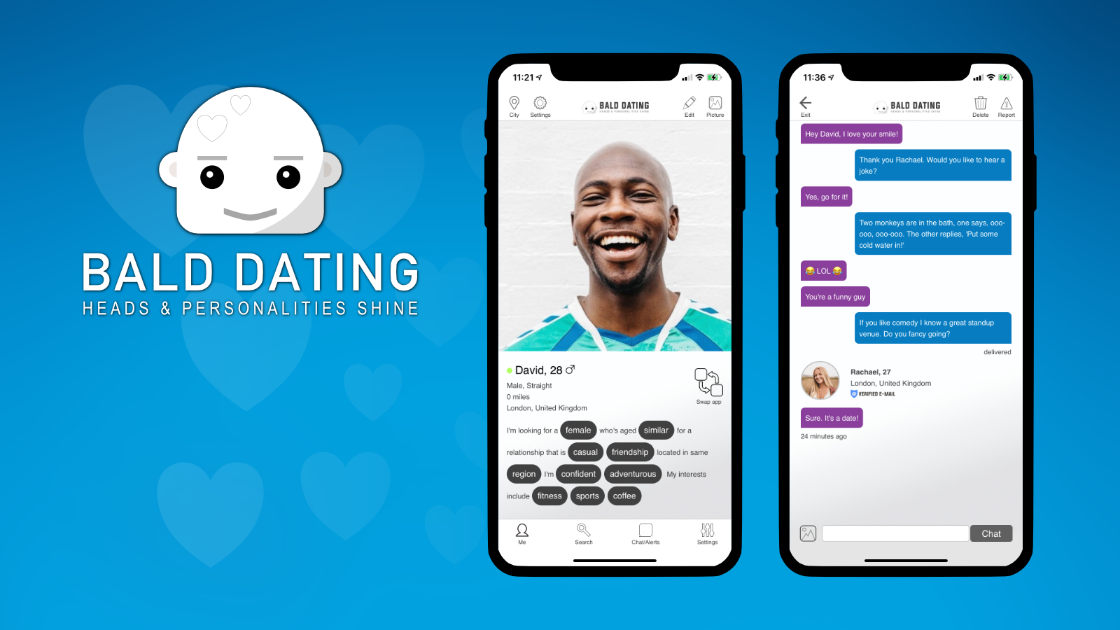 David Minns Launches 'Bald Dating' to Combat 'Hatfishing' Trend