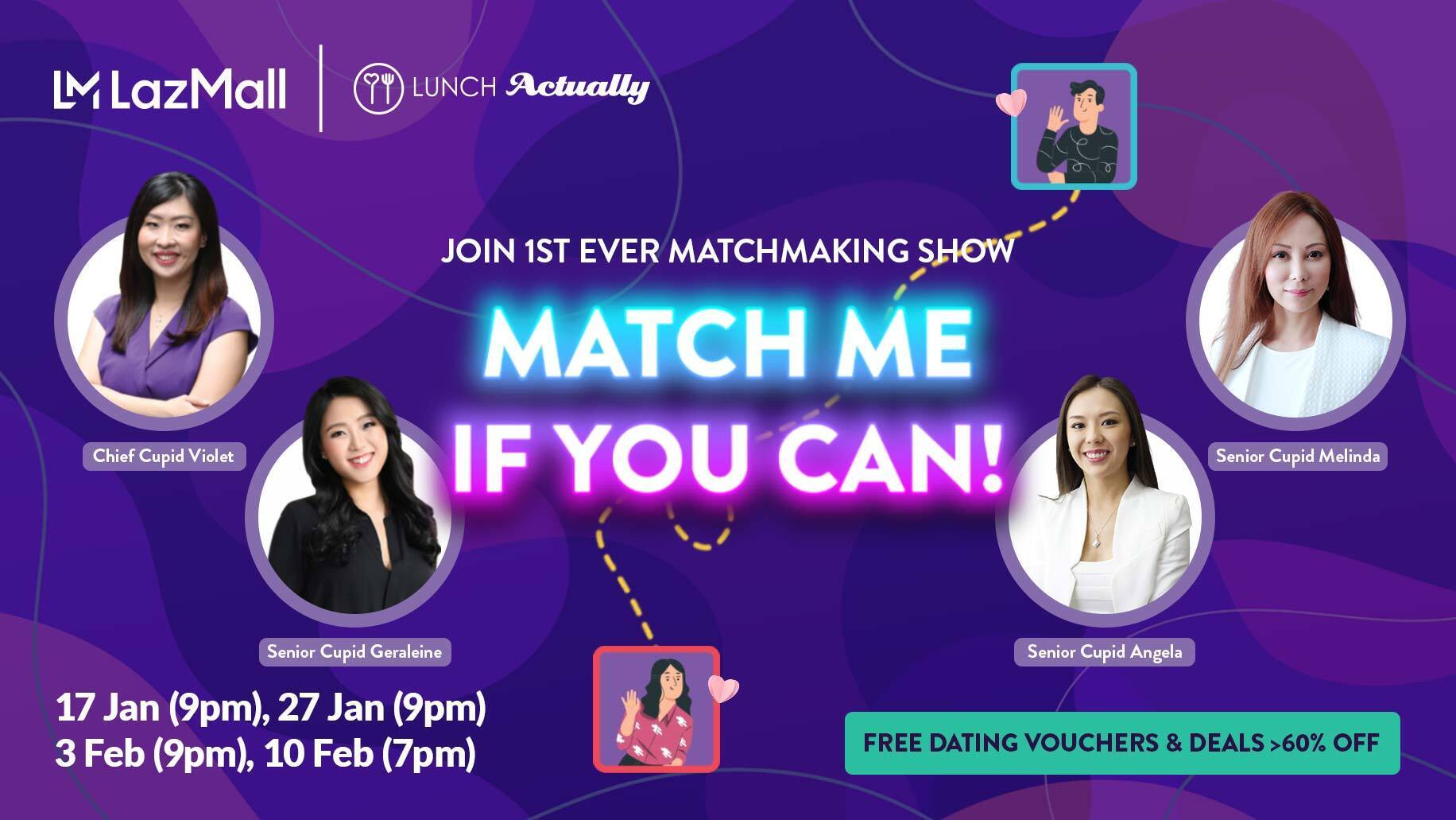 Lunch Actually Launches Four-Part Matchmaking Series on Lazada
