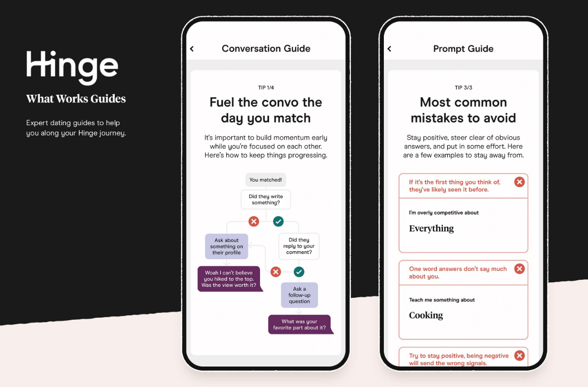 Hinge Introduces 'What Works Guides' to Help Create Better Daters
