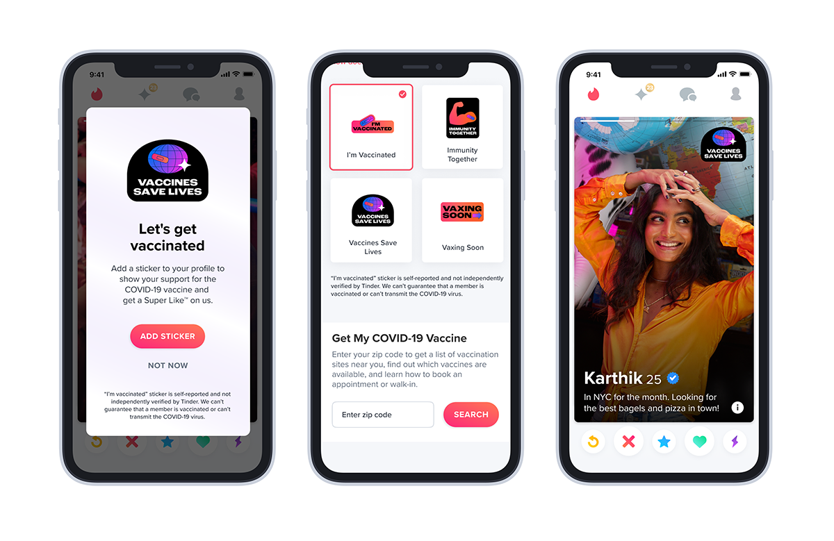 COVID Vaccinations Promoted on Dating Apps to Encourage Millennial and Gen Z Uptake