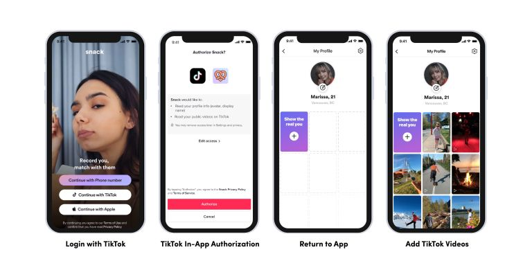 MeetMe and Snack Announce TikTok Integration to Help User Expression