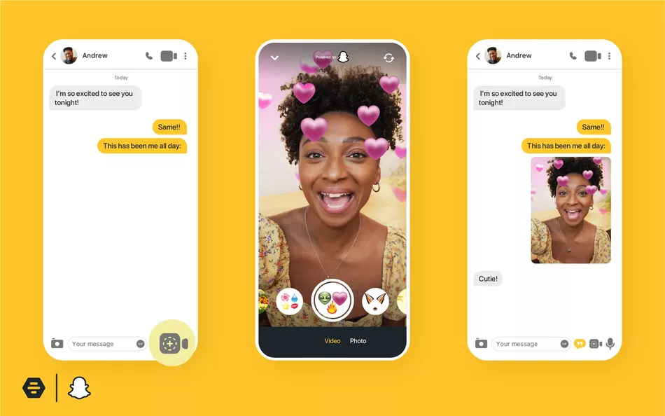 Bumble Partners With Snapchat and Introduces AR Backgrounds to Video Calls