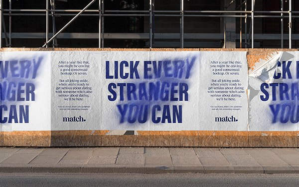 Match Creates 'Lick Every Stranger You Can' Campaign Ahead of Casual Summer