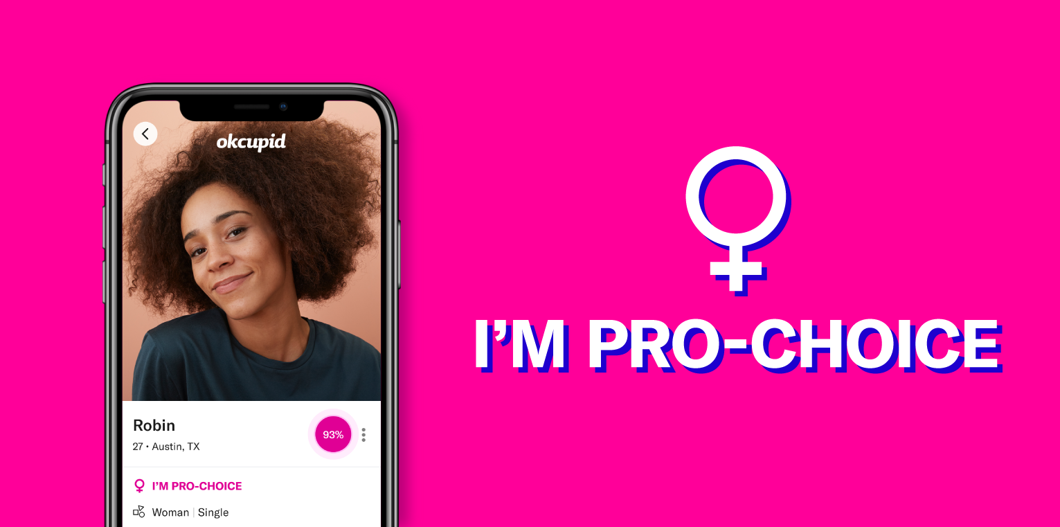 OkCupid Introduces Profile Badge to Support Abortion Rights